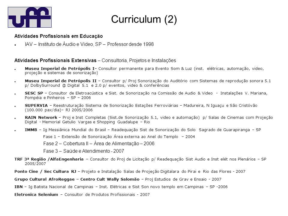 Curriculum (2) Atividades Profissionais em Educação