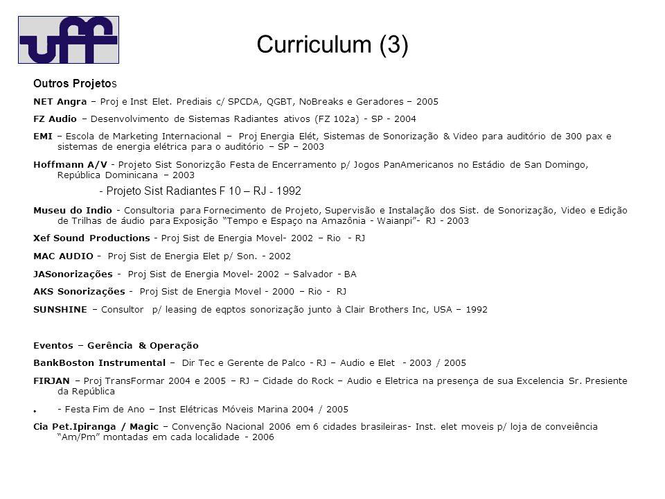 Curriculum (3) Outros Projetos