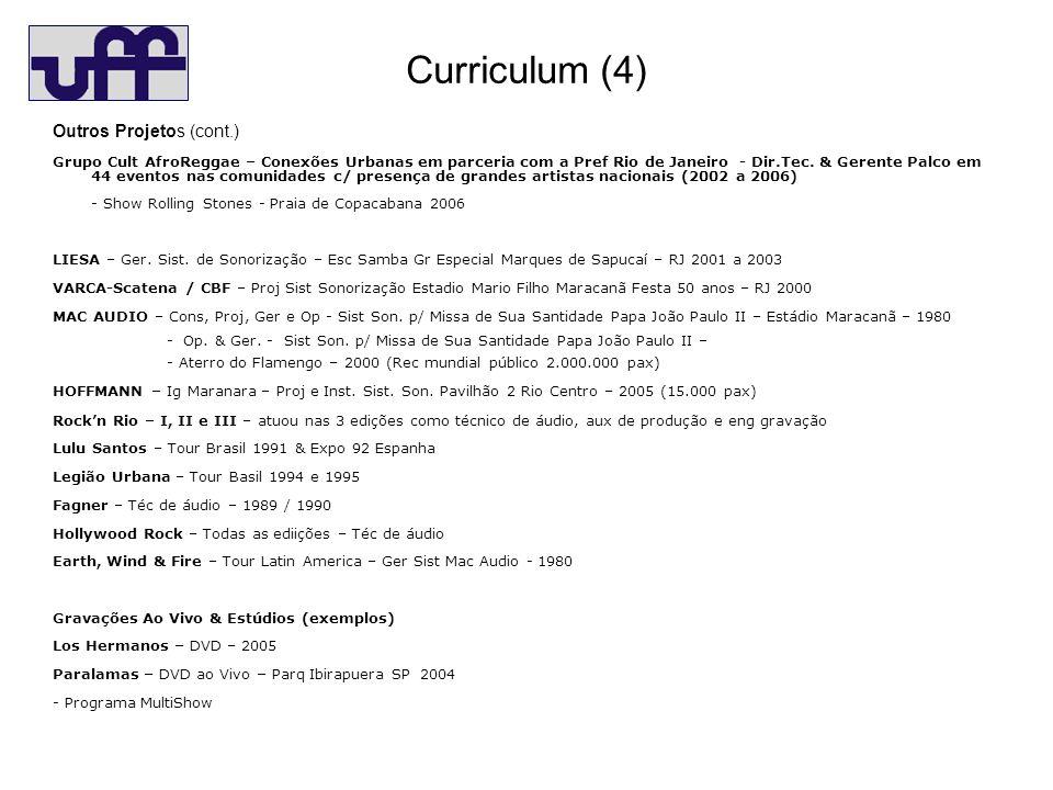 Curriculum (4) Outros Projetos (cont.)