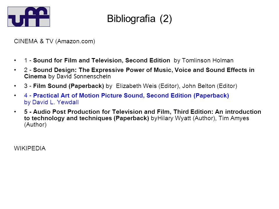 Bibliografia (2)‏ CINEMA & TV (Amazon.com)‏