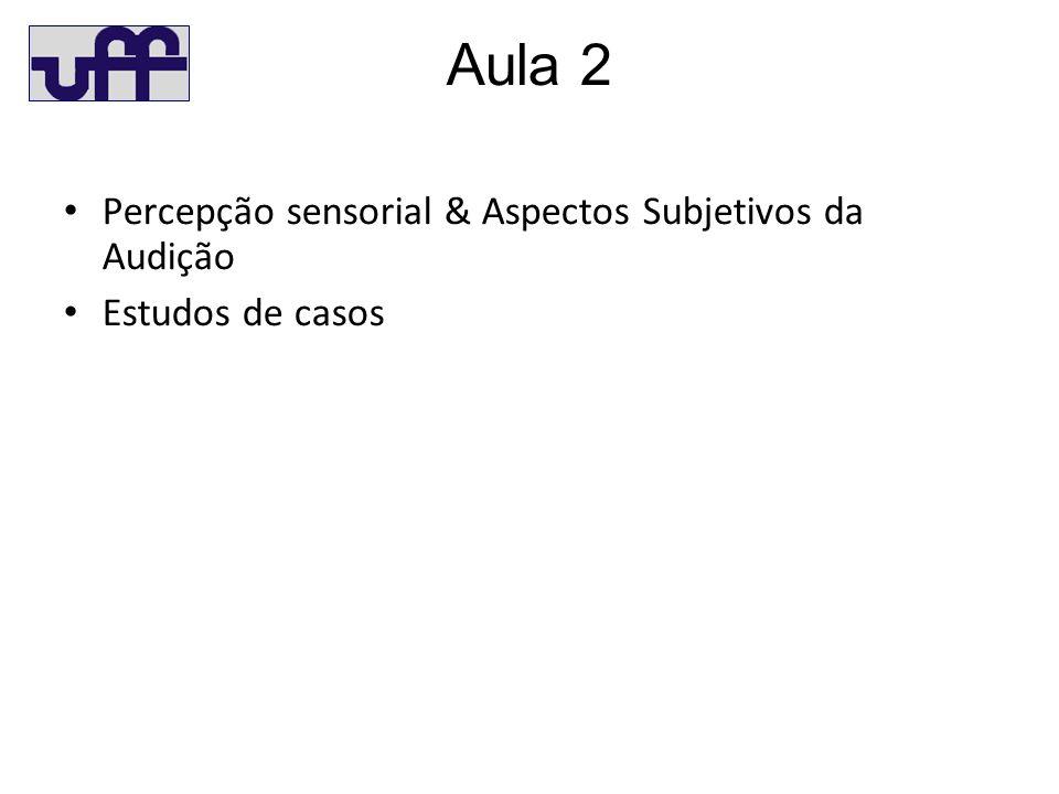 Aula 2 Percepção sensorial & Aspectos Subjetivos da Audição