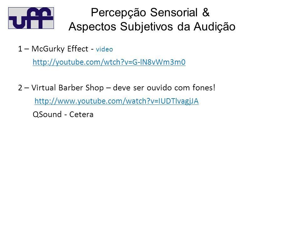 Percepção Sensorial & Aspectos Subjetivos da Audição