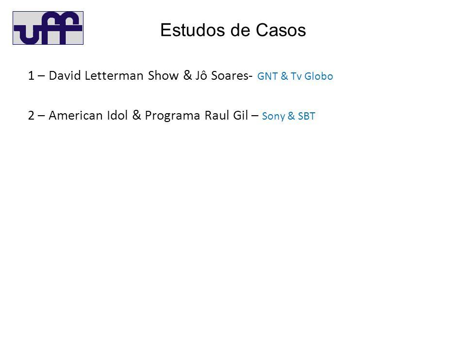 Estudos de Casos 1 – David Letterman Show & Jô Soares- GNT & Tv Globo