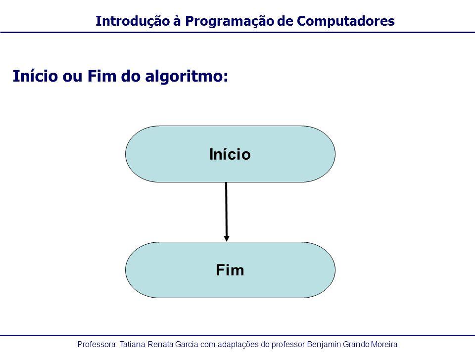 Início ou Fim do algoritmo: