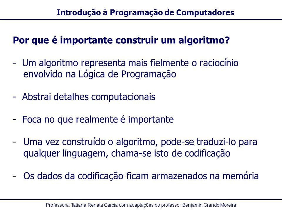 Por que é importante construir um algoritmo