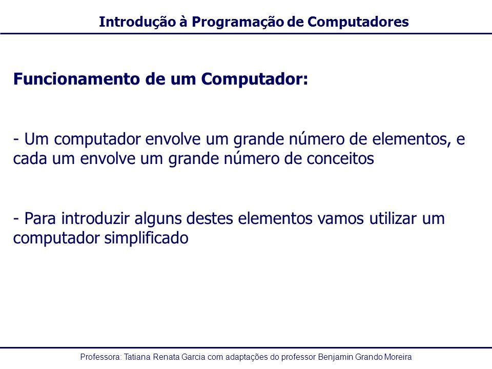 Funcionamento de um Computador: