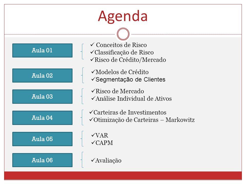 Agenda Conceitos de Risco Classificação de Risco Aula 01