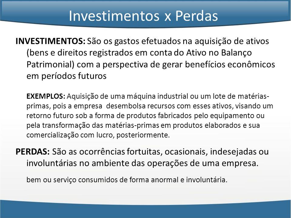 Investimentos x Perdas