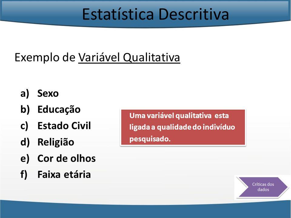 Estatística Descritiva