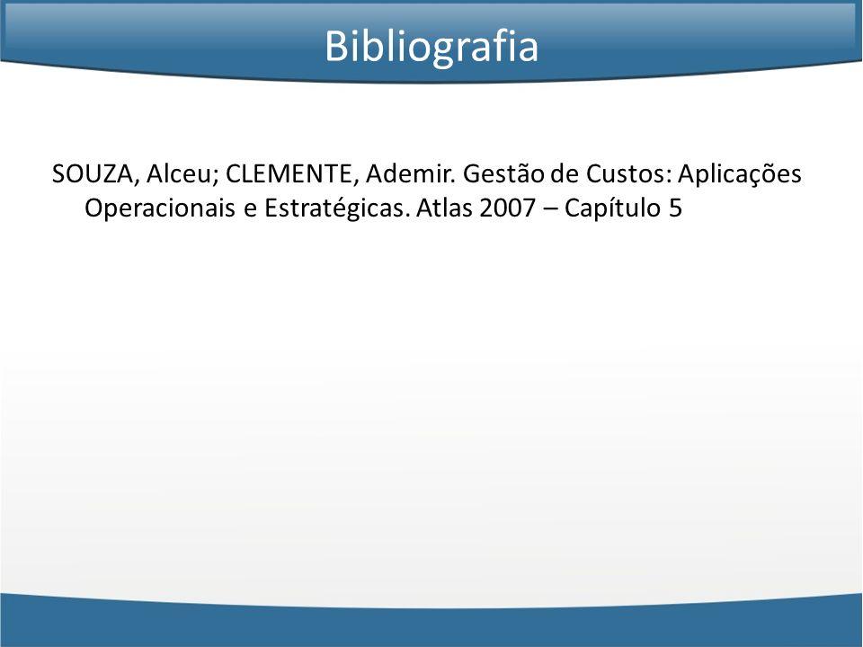 BibliografiaSOUZA, Alceu; CLEMENTE, Ademir.