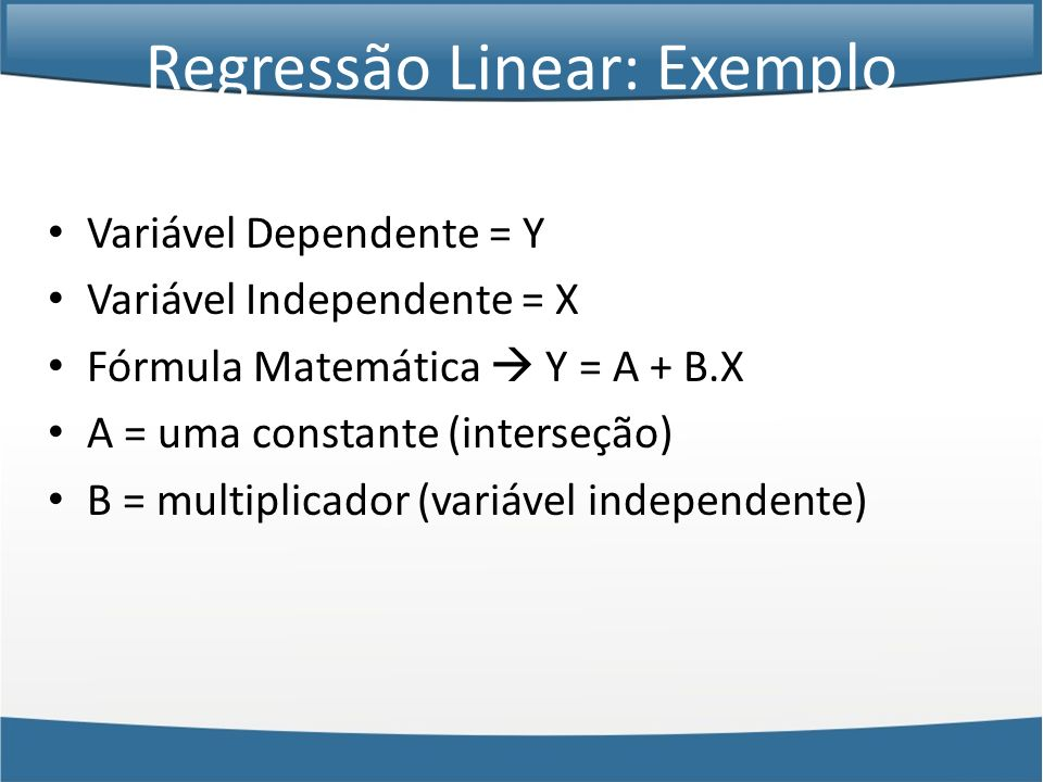 Regressão Linear: Exemplo