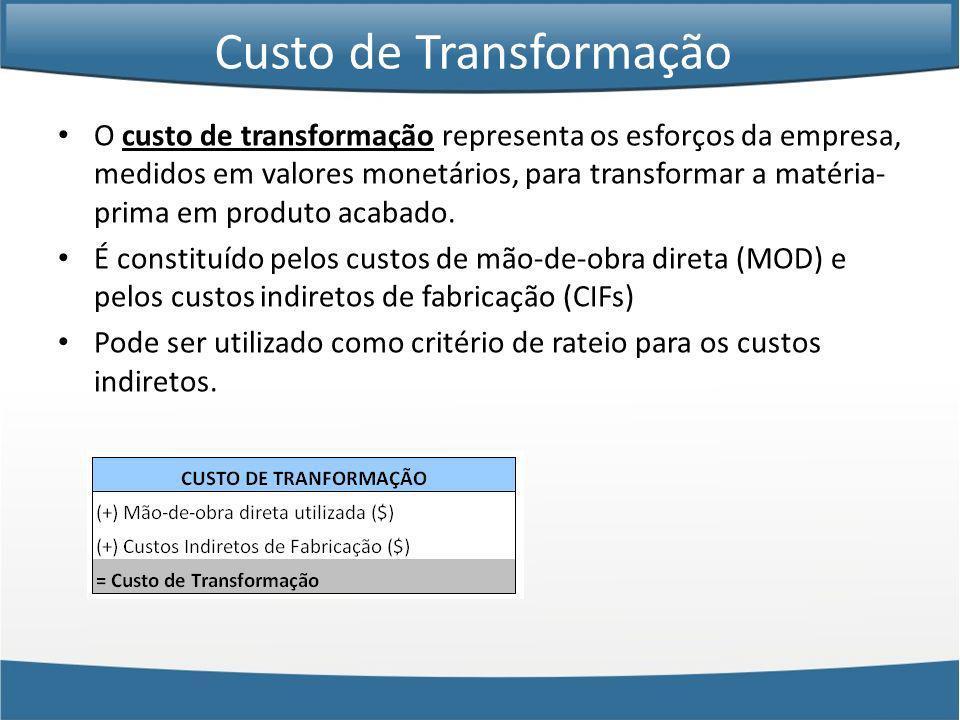 Custo de Transformação
