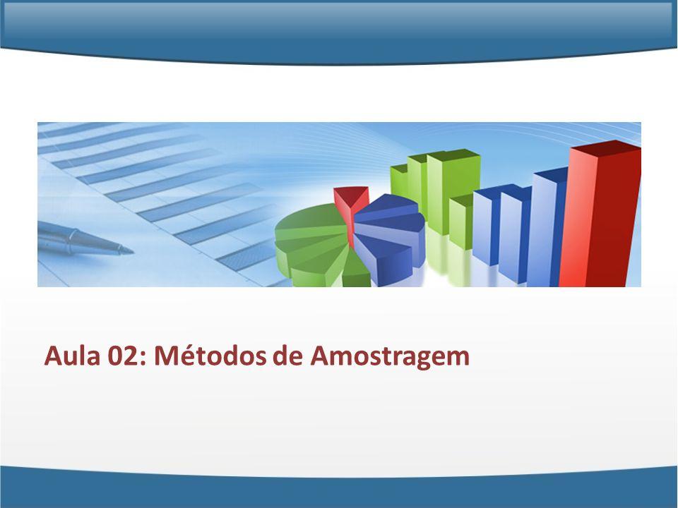 Aula 02: Métodos de Amostragem