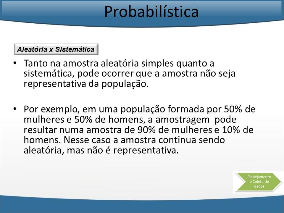 Probabilística Aleatória x Sistemática.