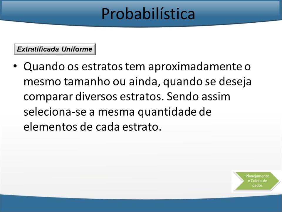 Probabilística Extratificada Uniforme.