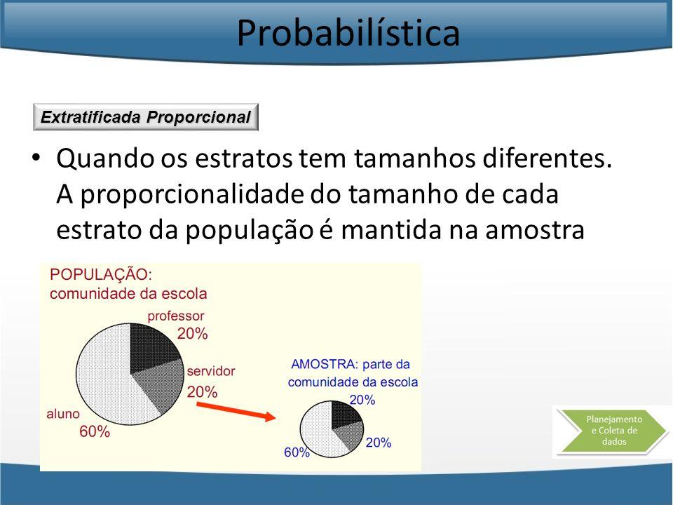 Probabilística Extratificada Proporcional.