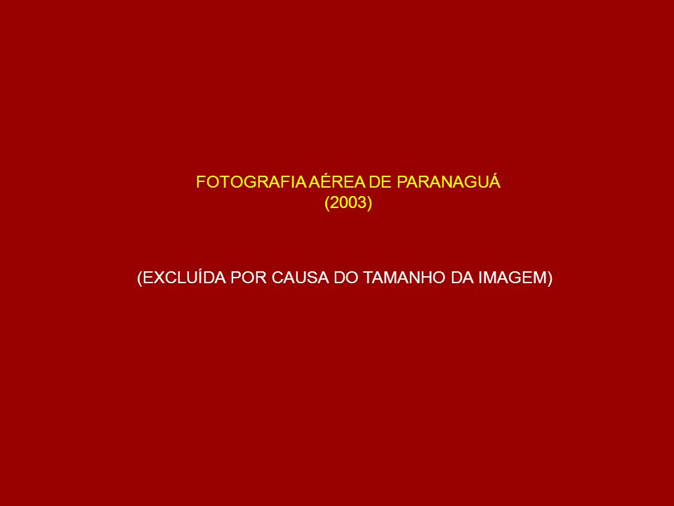FOTOGRAFIA AÉREA DE PARANAGUÁ