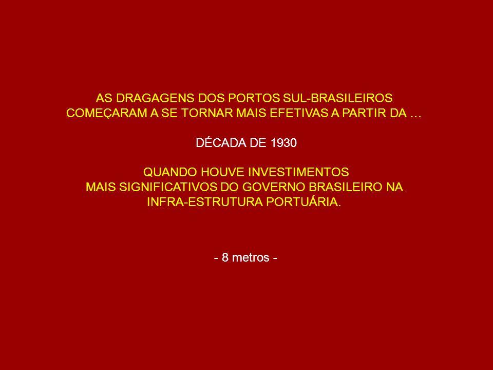 AS DRAGAGENS DOS PORTOS SUL-BRASILEIROS