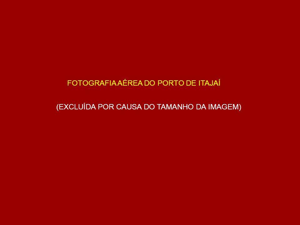 FOTOGRAFIA AÉREA DO PORTO DE ITAJAÍ