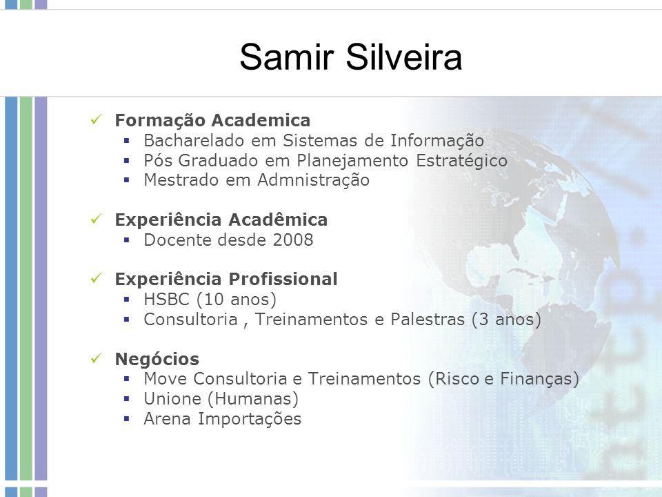 Samir Silveira Formação Academica