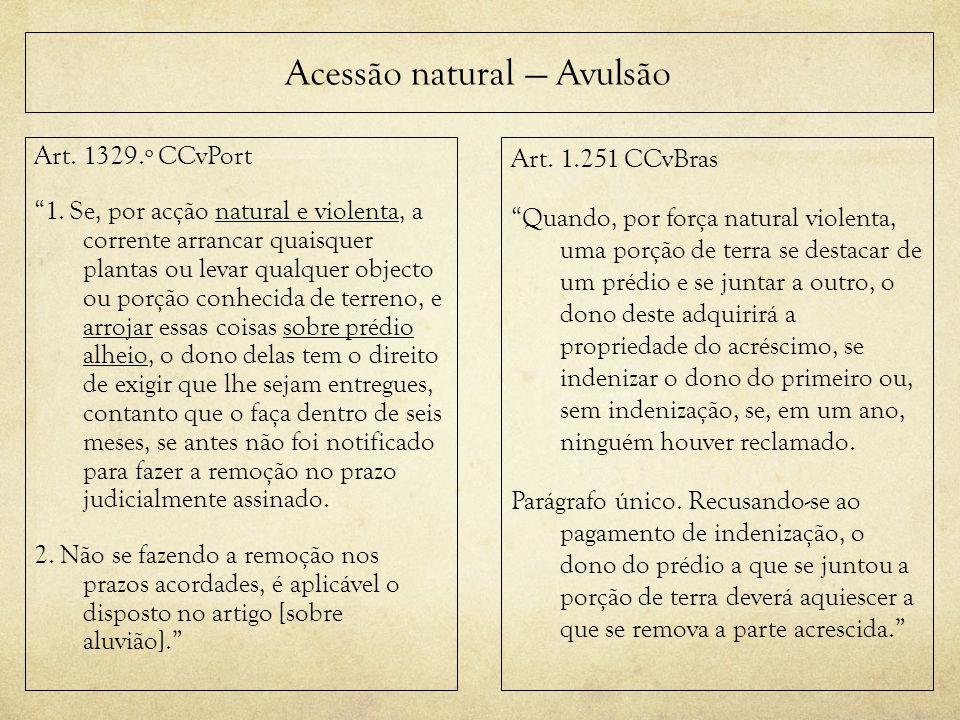 Acessão natural — Avulsão