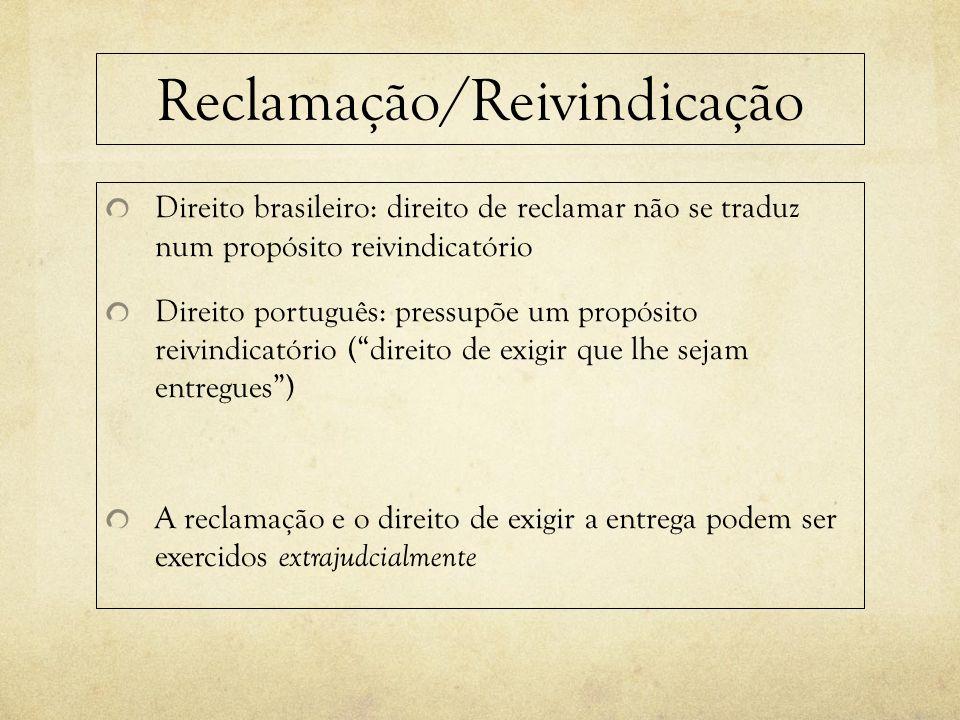 Reclamação/Reivindicação