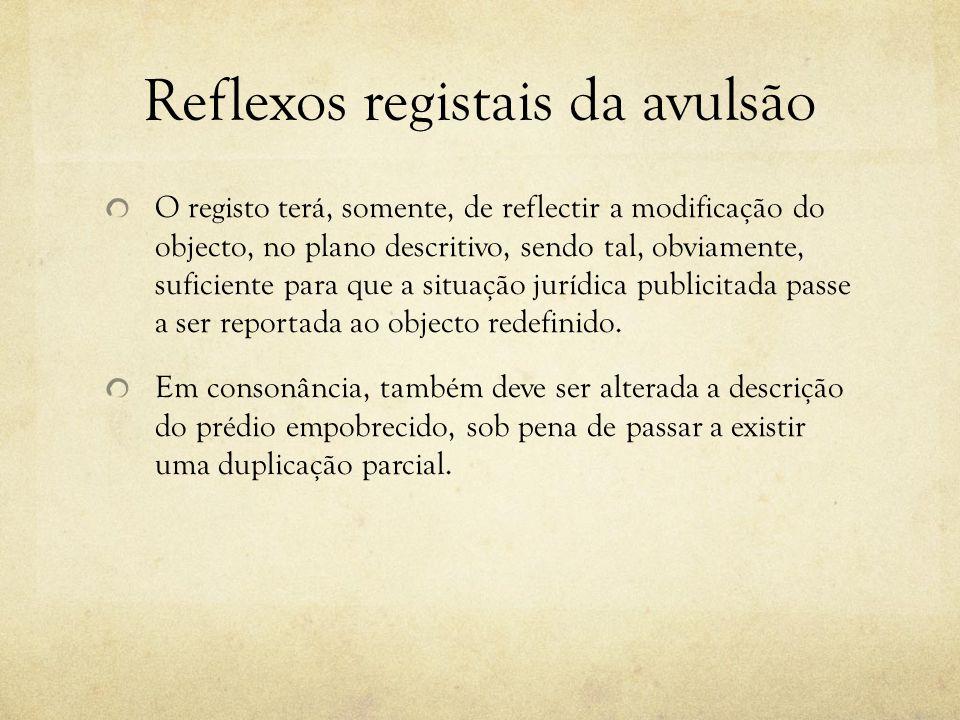 Reflexos registais da avulsão