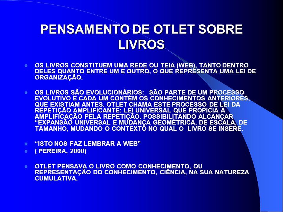 PENSAMENTO DE OTLET SOBRE LIVROS