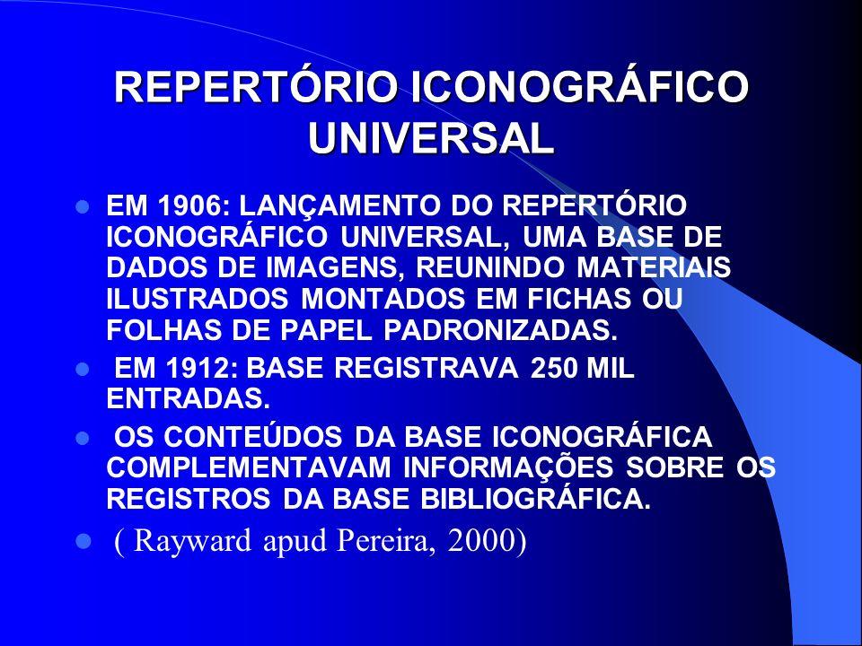 REPERTÓRIO ICONOGRÁFICO UNIVERSAL