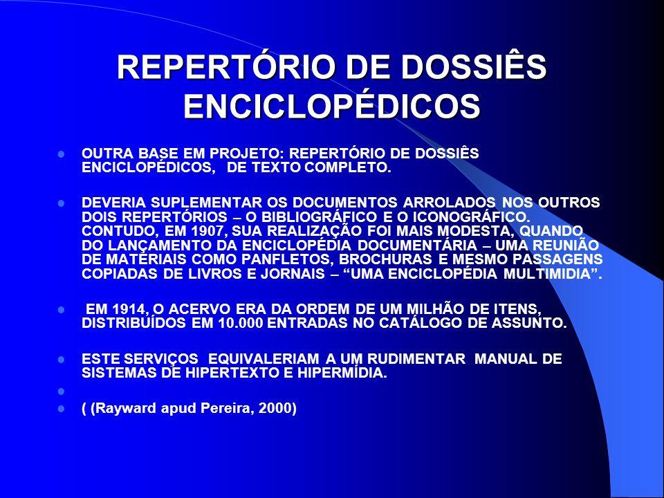 REPERTÓRIO DE DOSSIÊS ENCICLOPÉDICOS
