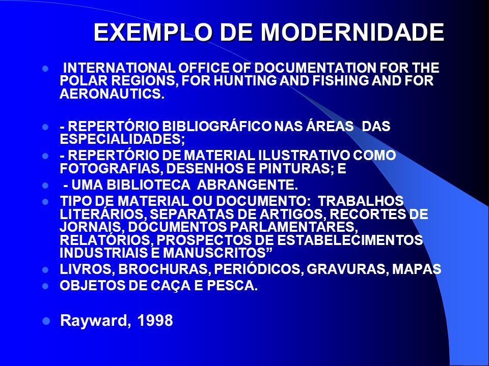 EXEMPLO DE MODERNIDADE