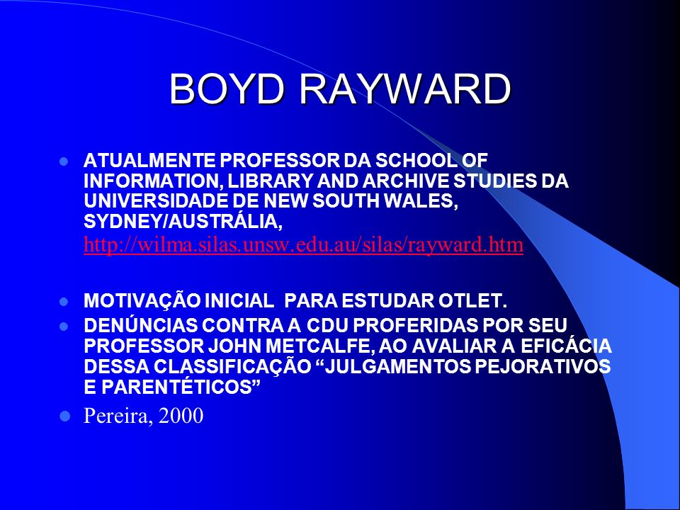 BOYD RAYWARD