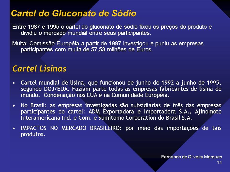 Cartel do Gluconato de Sódio