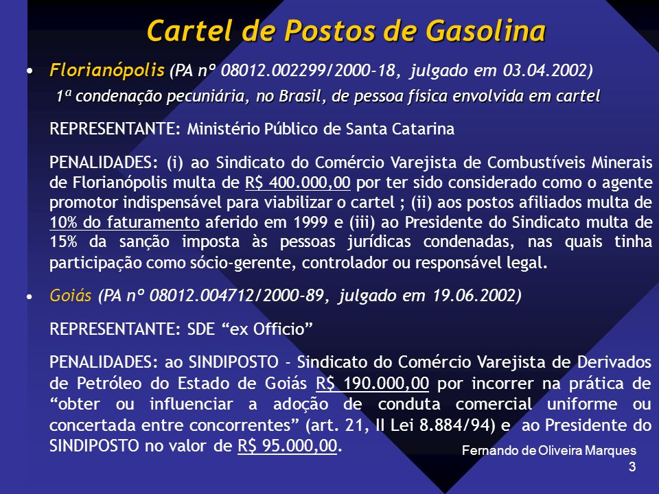Cartel de Postos de Gasolina