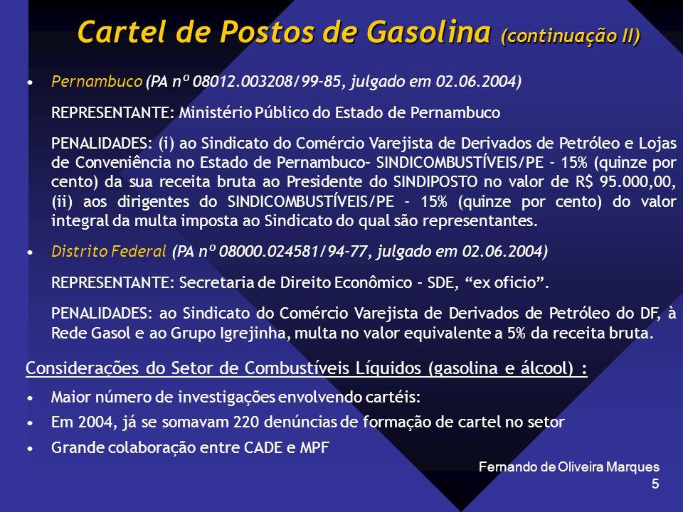 Cartel de Postos de Gasolina (continuação II)