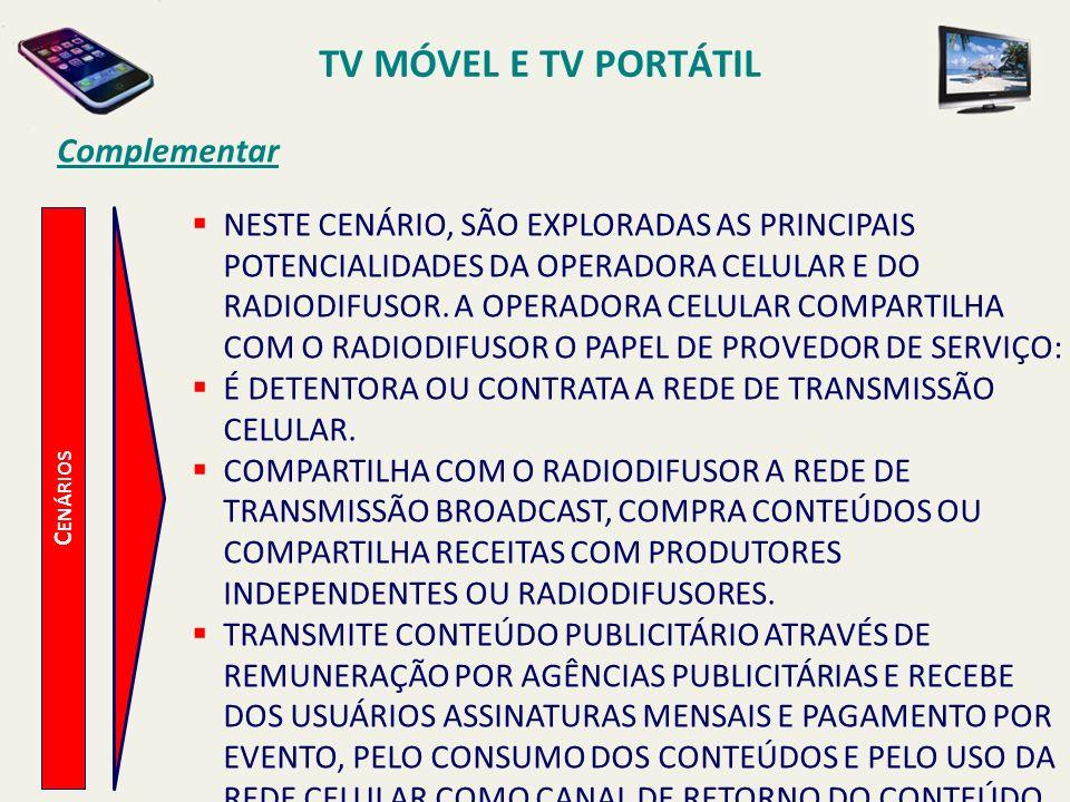 TV MÓVEL E TV PORTÁTIL Complementar