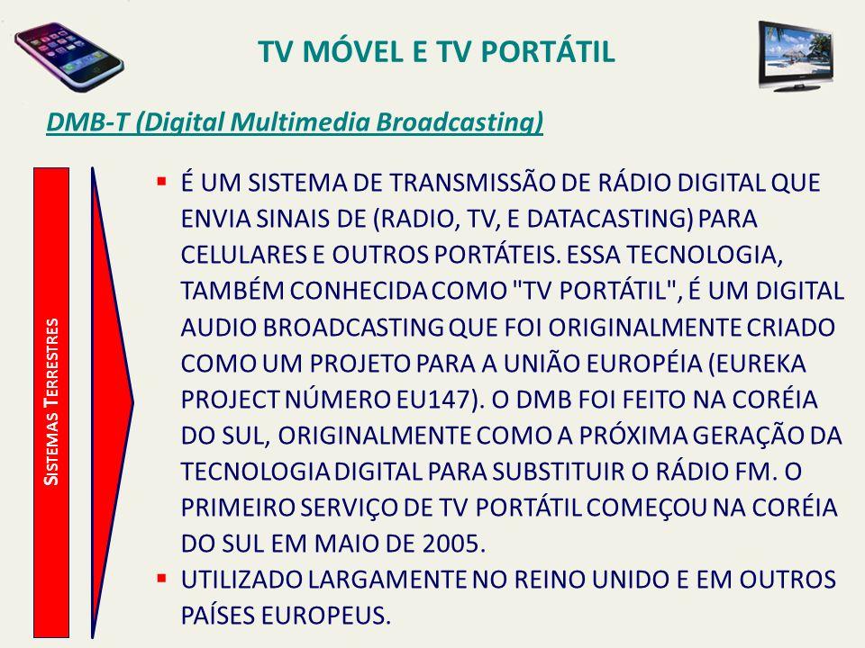 TV MÓVEL E TV PORTÁTIL DMB-T (Digital Multimedia Broadcasting)