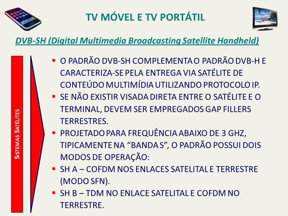 TV MÓVEL E TV PORTÁTIL DVB-SH (Digital Multimedia Broadcasting Satellite Handheld)