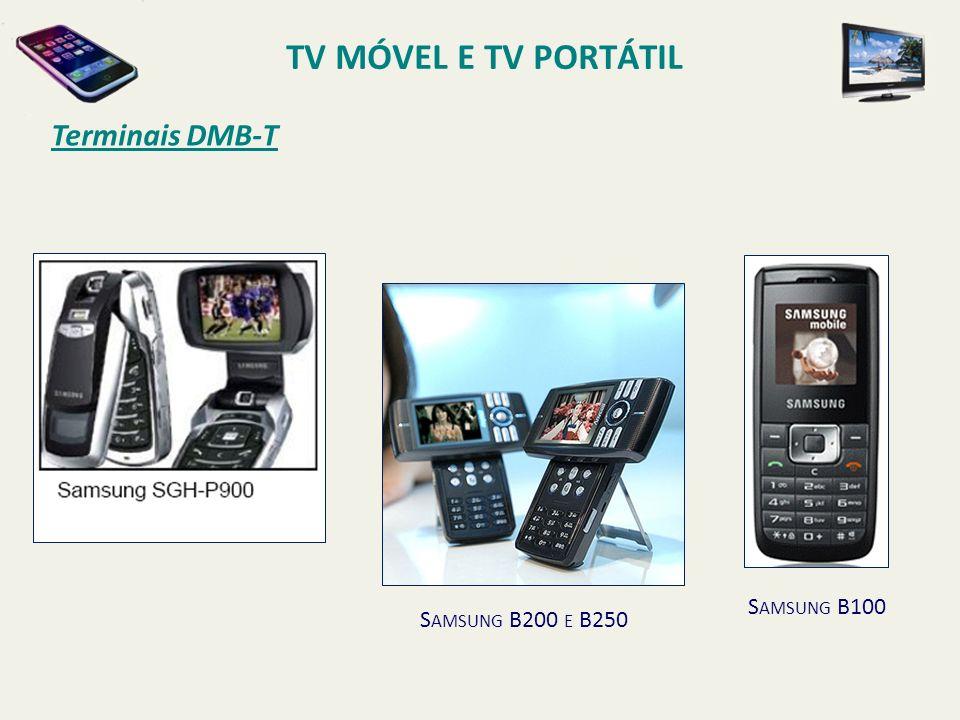 TV MÓVEL E TV PORTÁTIL Terminais DMB-T Samsung B100