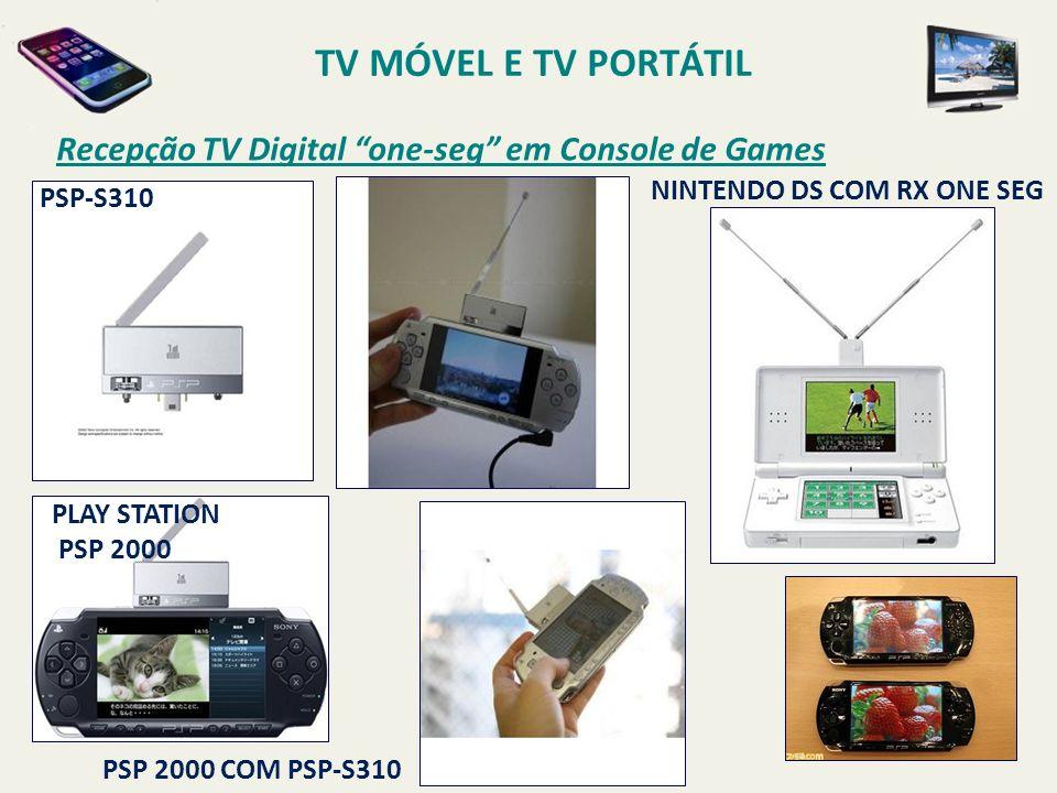 TV MÓVEL E TV PORTÁTIL Recepção TV Digital one-seg em Console de Games. PSP-S310. Nintendo DS com RX One Seg.