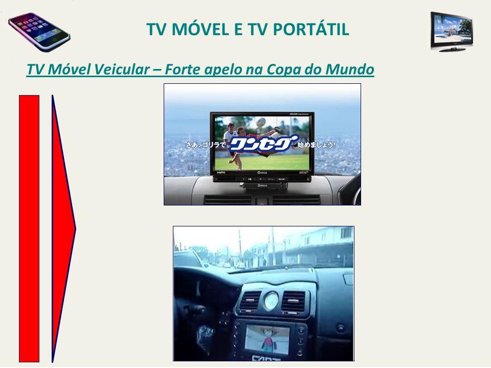 TV MÓVEL E TV PORTÁTIL TV Móvel Veicular – Forte apelo na Copa do Mundo