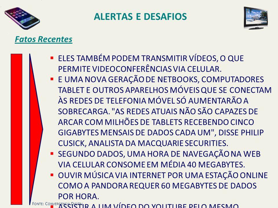 ALERTAS E DESAFIOS Fatos Recentes