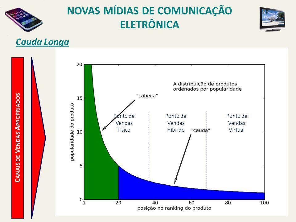 NOVAS MÍDIAS DE COMUNICAÇÃO ELETRÔNICA Canais de Vendas Apropriados