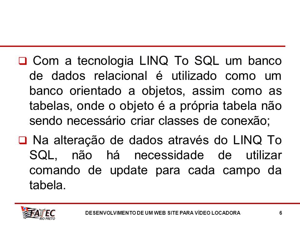 DESENVOLVIMENTO DE UM WEB SITE PARA VÍDEO LOCADORA