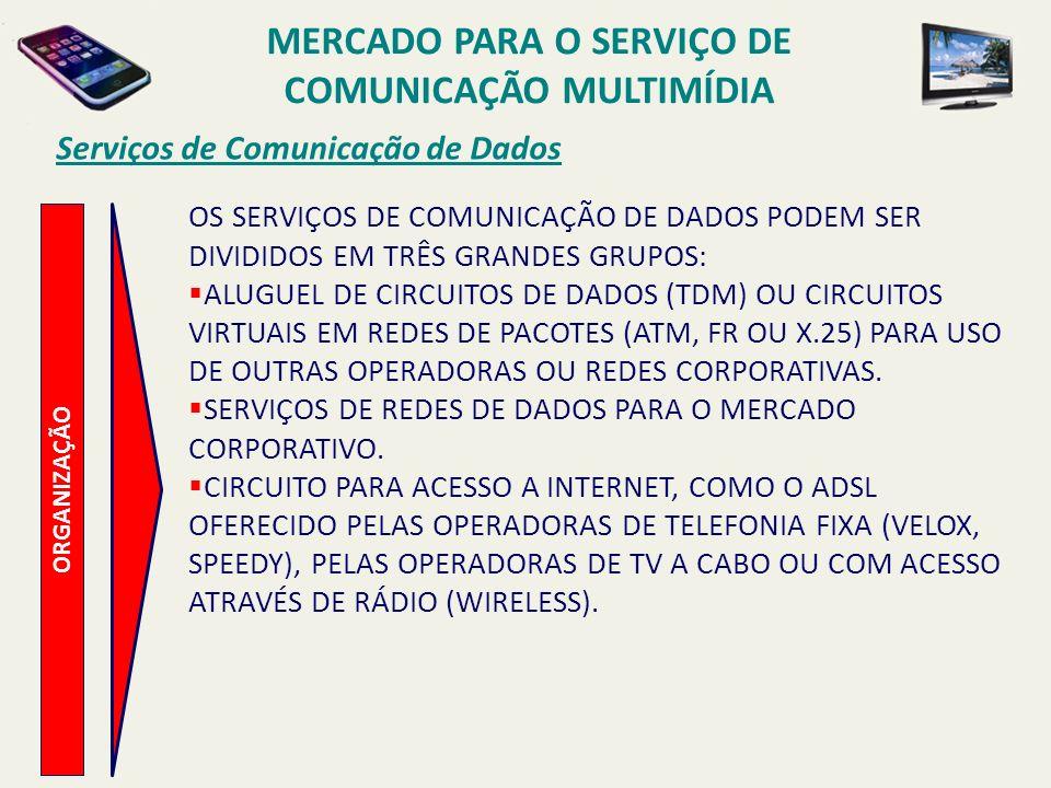 MERCADO PARA O SERVIÇO DE COMUNICAÇÃO MULTIMÍDIA
