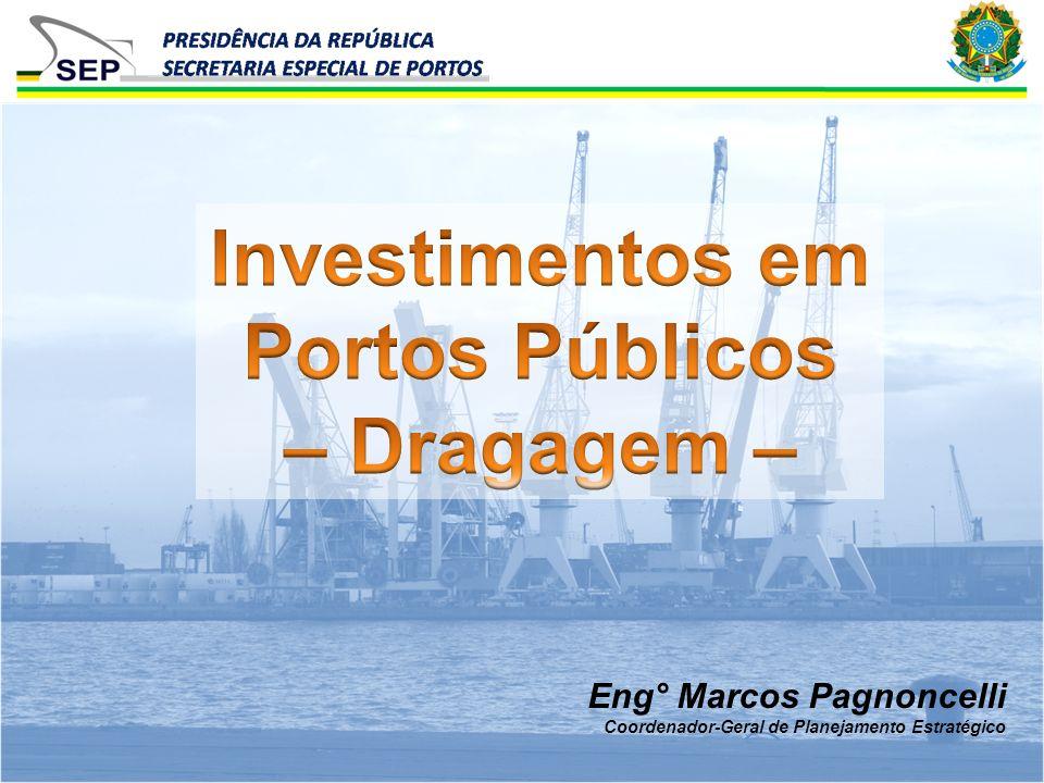 Investimentos em Portos Públicos – Dragagem –