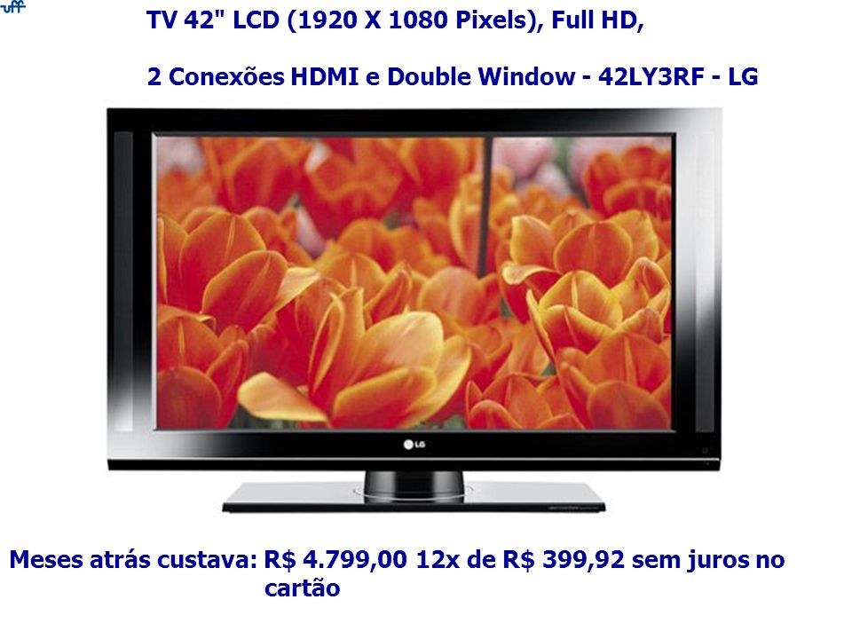 TV 42 LCD (1920 X 1080 Pixels), Full HD,