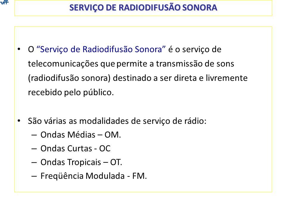 SERVIÇO DE RADIODIFUSÃO SONORA