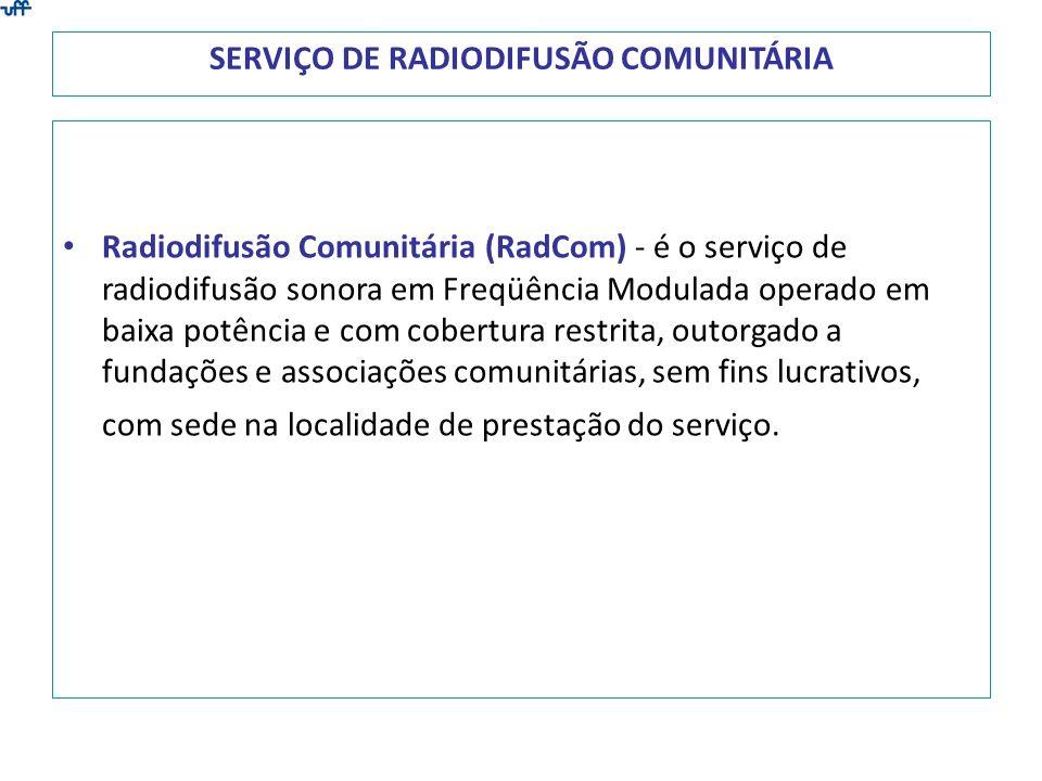 SERVIÇO DE RADIODIFUSÃO COMUNITÁRIA