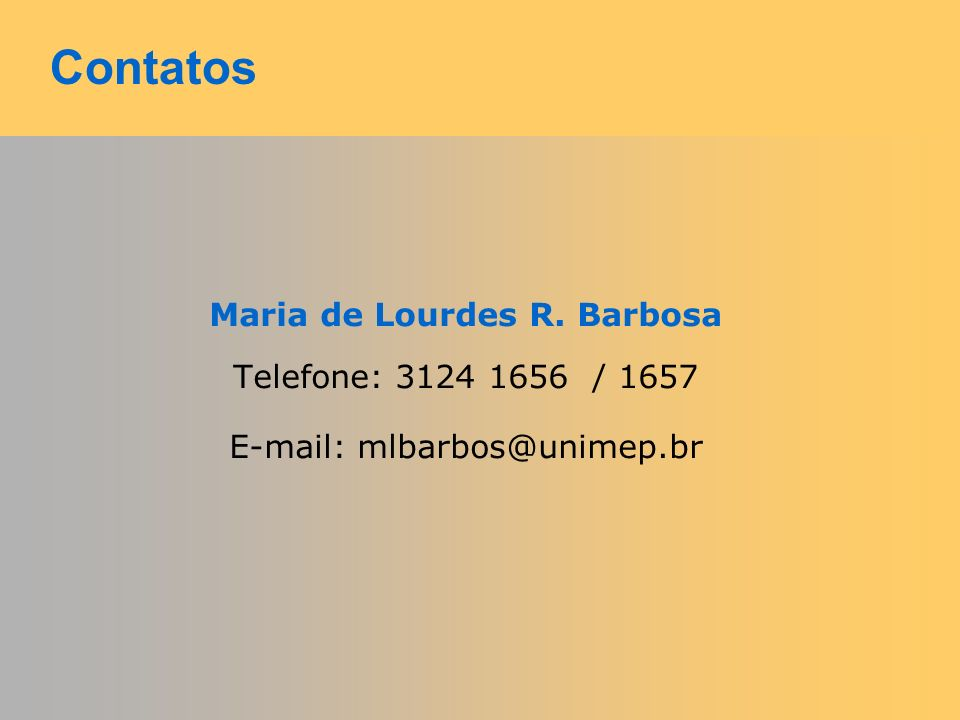 Maria de Lourdes R. Barbosa